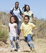Healthy running family