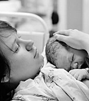 Young breastfeeding mother